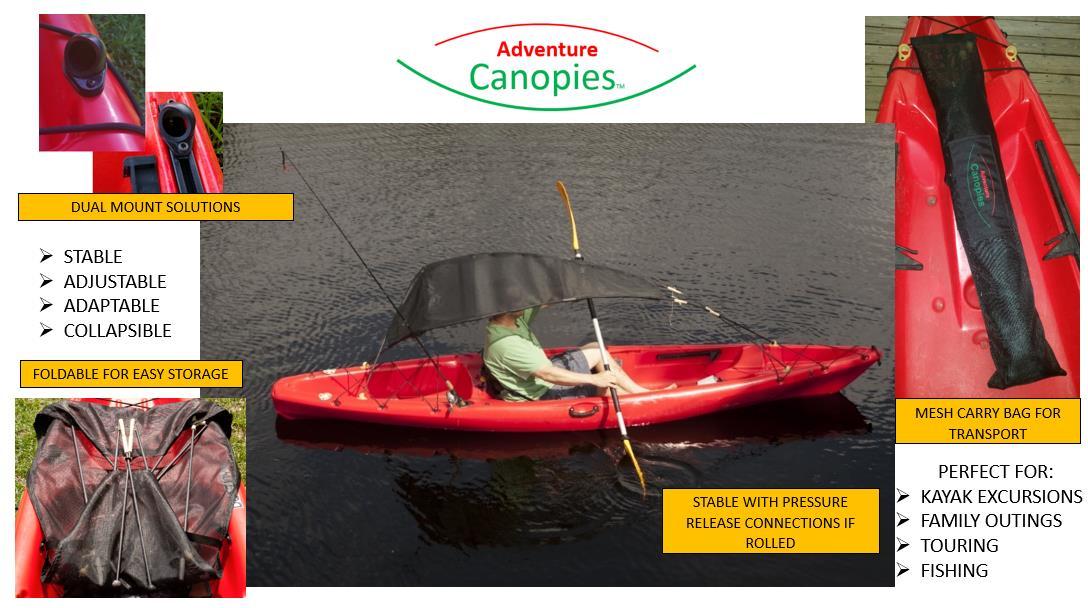 adventure canopy bimini kayak florida